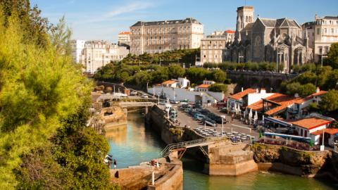 Biarritz city view
