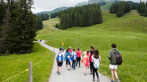 Hiking at Alpadia Engelberg Summer Camp