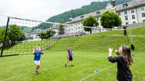 Alpadia Engelberg Summer Camp volleyball game