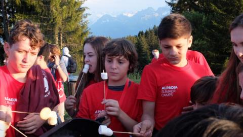 Alpadia Leysin Language Camp BBQ
