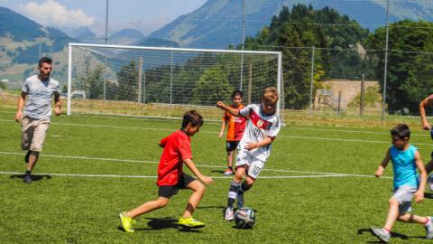 Alpadia Leysin Language Camp football game