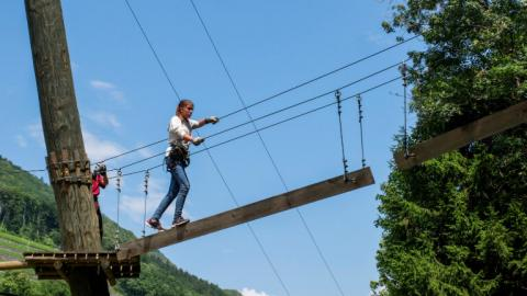 Alpadia Leysin Language Camp tree top adventures