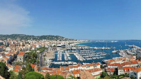 Views of nice city, port and sea
