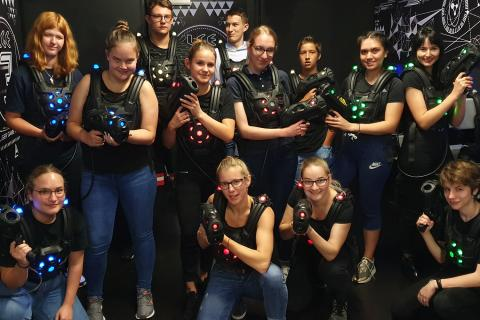 Lasertag in Freiburg with Alpadia Languages Freiburg